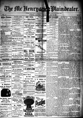McHenry Plaindealer (McHenry, IL), 22 May 1889