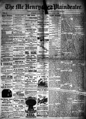 McHenry Plaindealer (McHenry, IL), 5 Jun 1889