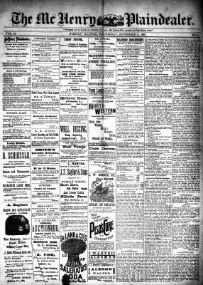 McHenry Plaindealer (McHenry, IL), 11 Sep 1889