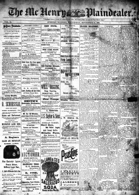 McHenry Plaindealer (McHenry, IL), 25 Sep 1889