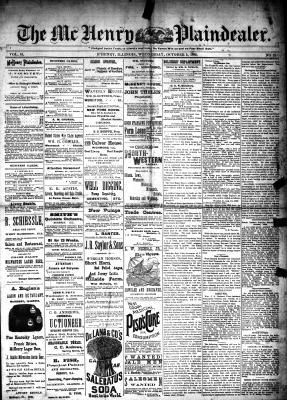 McHenry Plaindealer (McHenry, IL), 2 Oct 1889