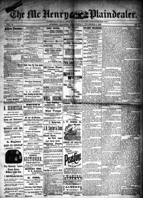 McHenry Plaindealer (McHenry, IL), 6 Nov 1889