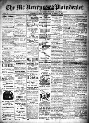 McHenry Plaindealer (McHenry, IL), 13 Nov 1889
