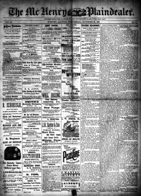 McHenry Plaindealer (McHenry, IL), 20 Nov 1889