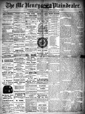 McHenry Plaindealer (McHenry, IL), 19 Feb 1890