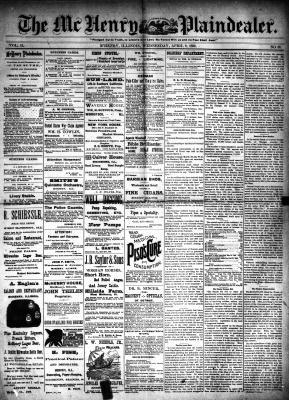 McHenry Plaindealer (McHenry, IL), 9 Apr 1890