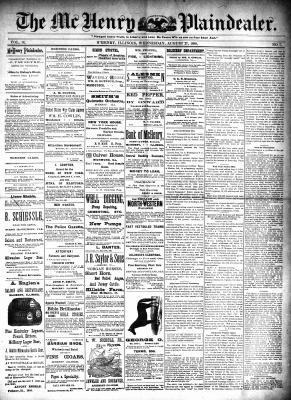 McHenry Plaindealer (McHenry, IL), 27 Aug 1890