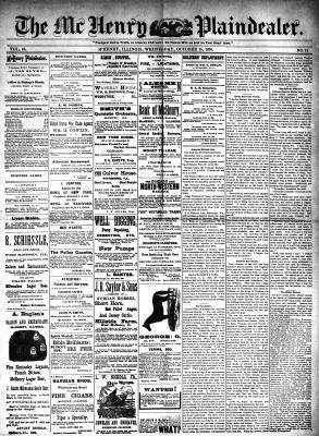 McHenry Plaindealer (McHenry, IL), 15 Oct 1890