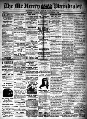 McHenry Plaindealer (McHenry, IL), 19 Nov 1890