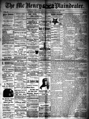 McHenry Plaindealer (McHenry, IL), 26 Nov 1890