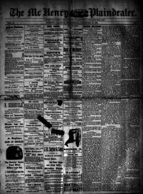McHenry Plaindealer (McHenry, IL), 10 Dec 1890