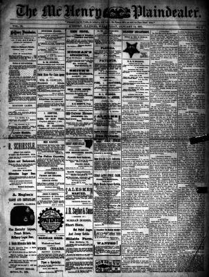 McHenry Plaindealer (McHenry, IL), 14 Jan 1891