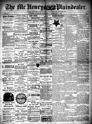 McHenry Plaindealer (McHenry, IL), 11 Feb 1891
