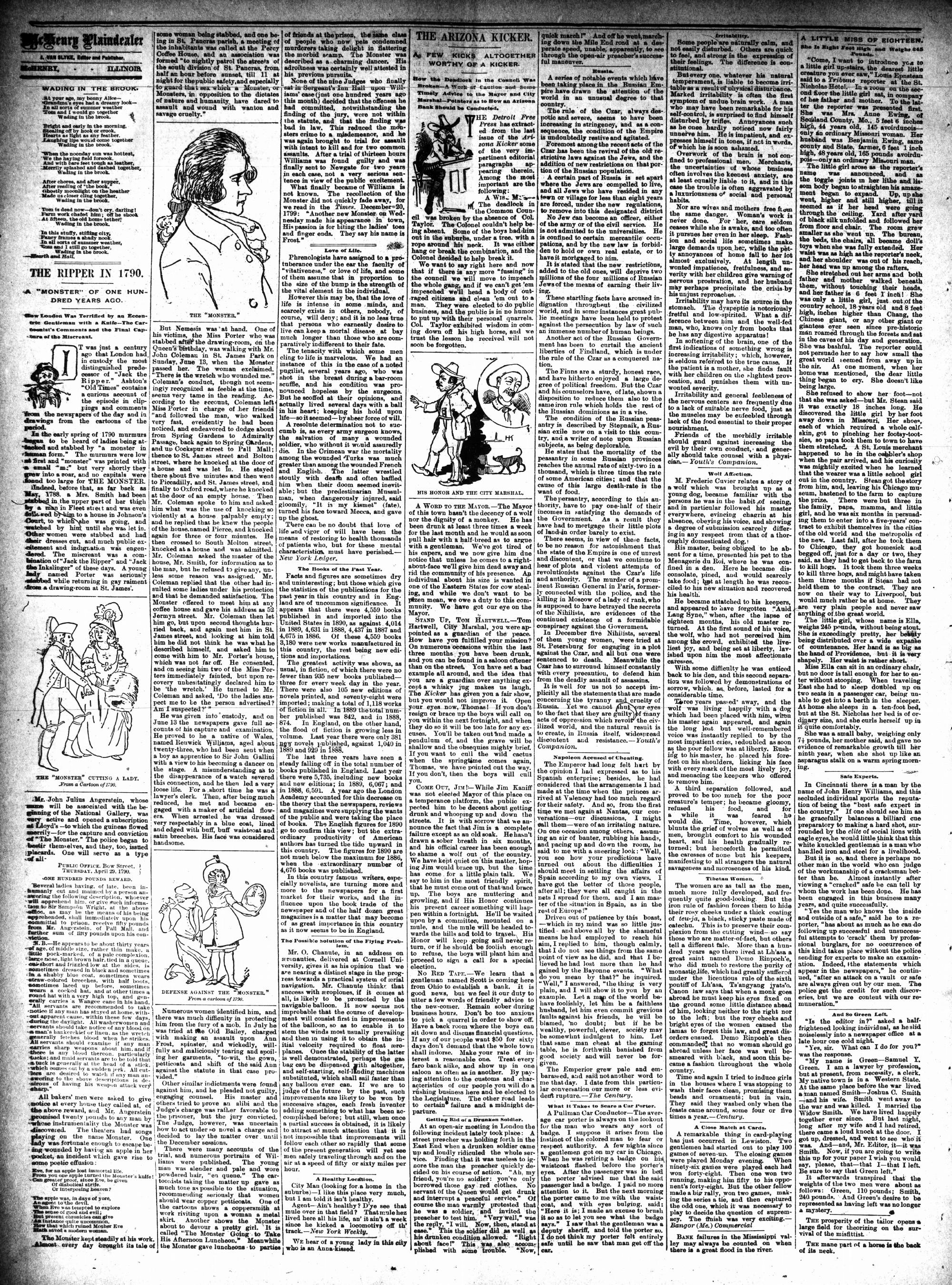 McHenry Plaindealer (McHenry, IL), 11 Mar 1891