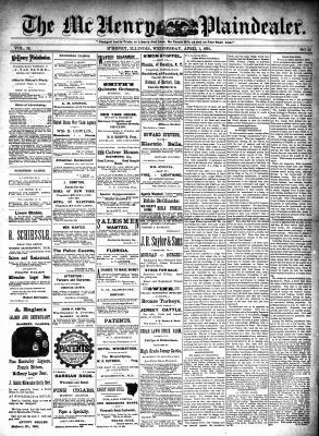McHenry Plaindealer (McHenry, IL), 1 Apr 1891
