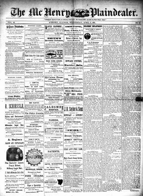 McHenry Plaindealer (McHenry, IL), 8 Apr 1891