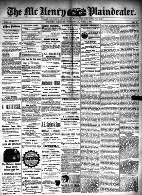 McHenry Plaindealer (McHenry, IL), 3 Jun 1891