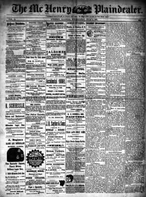 McHenry Plaindealer (McHenry, IL), 8 Jul 1891