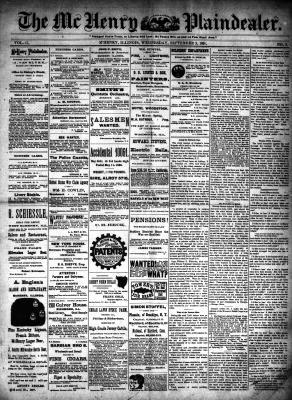 McHenry Plaindealer (McHenry, IL), 2 Sep 1891