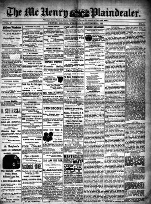 McHenry Plaindealer (McHenry, IL), 9 Sep 1891