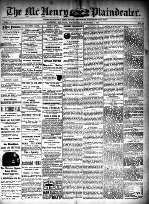 McHenry Plaindealer (McHenry, IL), 7 Oct 1891