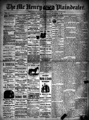 McHenry Plaindealer (McHenry, IL), 18 Nov 1891