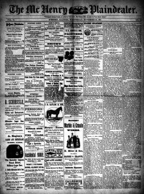 McHenry Plaindealer (McHenry, IL), 25 Nov 1891