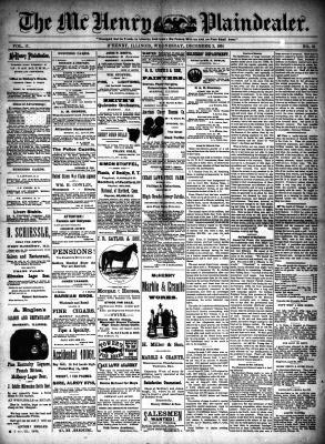 McHenry Plaindealer (McHenry, IL), 2 Dec 1891