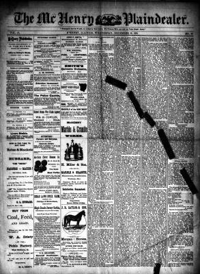 McHenry Plaindealer (McHenry, IL), 16 Dec 1891
