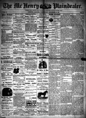 McHenry Plaindealer (McHenry, IL), 23 Dec 1891