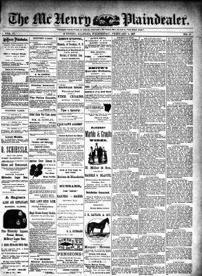 McHenry Plaindealer (McHenry, IL), 3 Feb 1892