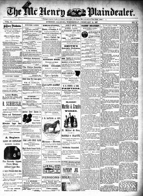 McHenry Plaindealer (McHenry, IL), 10 Feb 1892