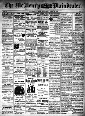 McHenry Plaindealer (McHenry, IL), 20 Apr 1892