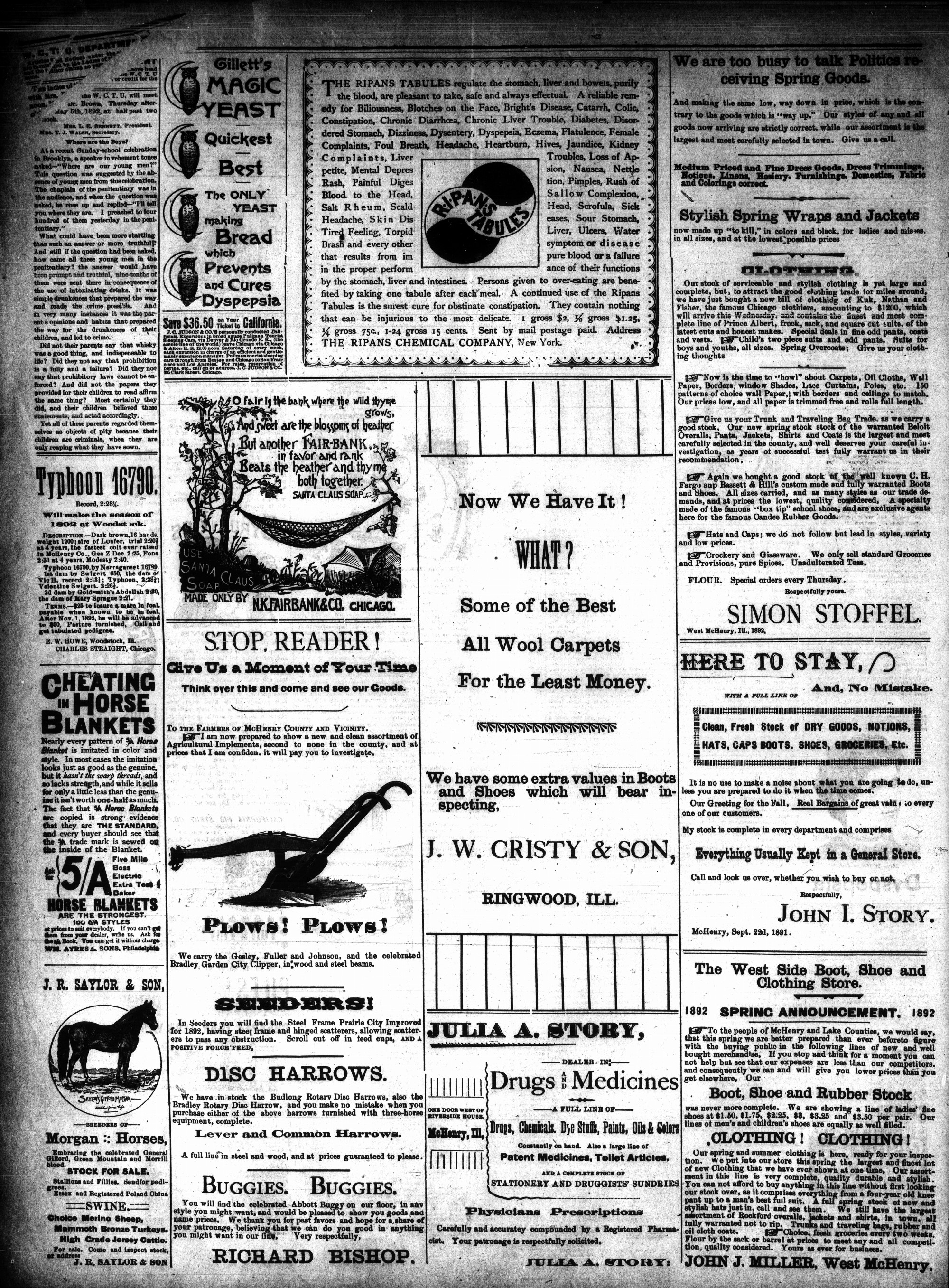 McHenry Plaindealer (McHenry, IL), 4 May 1892