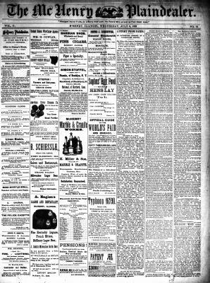 McHenry Plaindealer (McHenry, IL), 6 Jul 1892