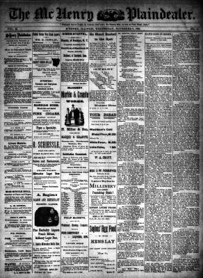 McHenry Plaindealer (McHenry, IL), 9 Nov 1892