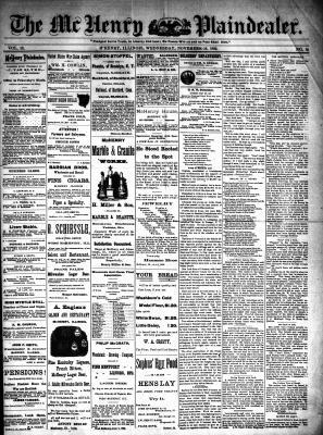 McHenry Plaindealer (McHenry, IL), 16 Nov 1892