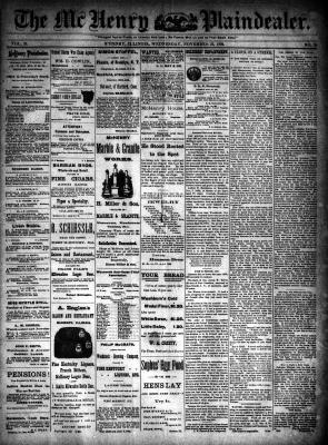 McHenry Plaindealer (McHenry, IL), 23 Nov 1892