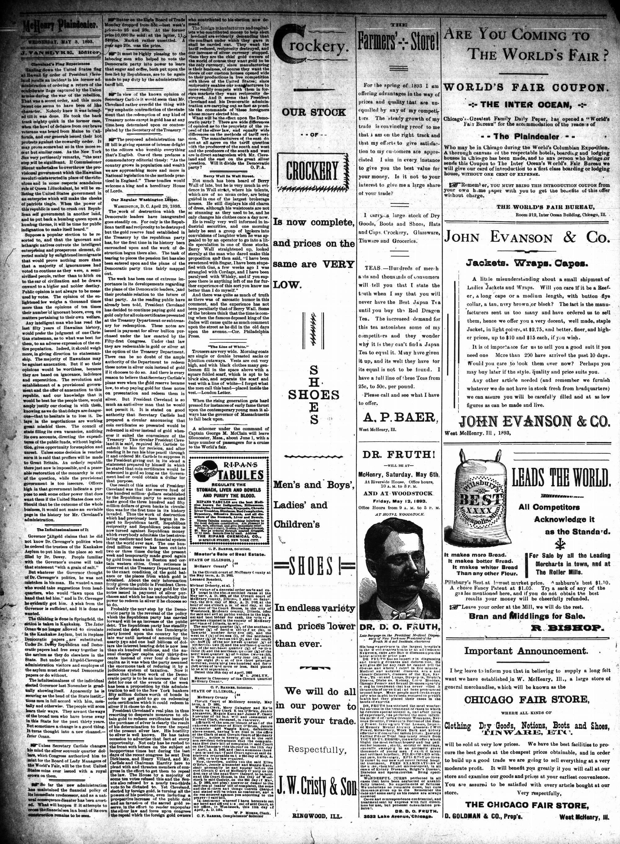 McHenry Plaindealer (McHenry, IL), 3 May 1893