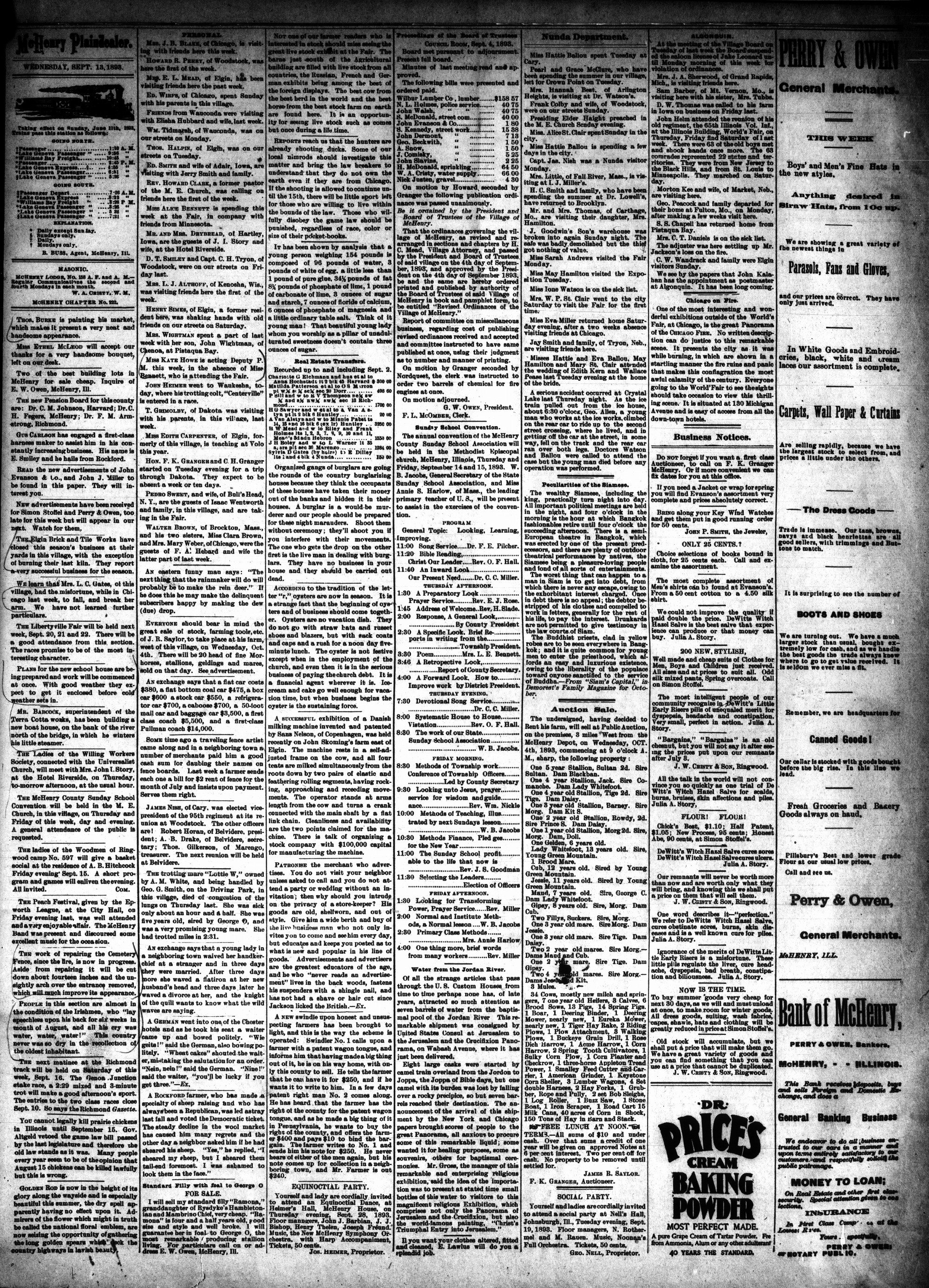 McHenry Plaindealer (McHenry, IL), 13 Sep 1893