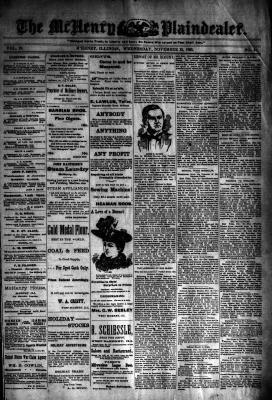 McHenry Plaindealer (McHenry, IL), 22 Nov 1893