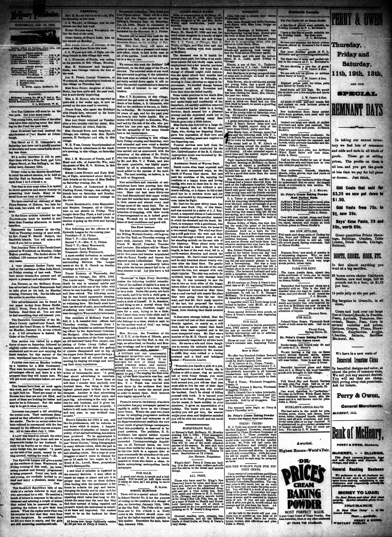 McHenry Plaindealer (McHenry, IL), 10 Jan 1894