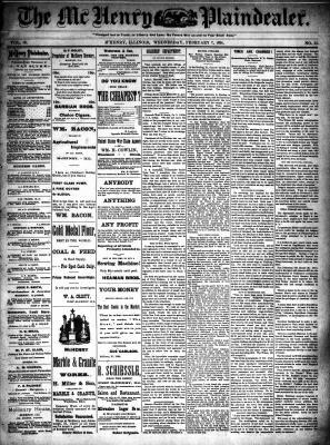McHenry Plaindealer (McHenry, IL), 7 Feb 1894