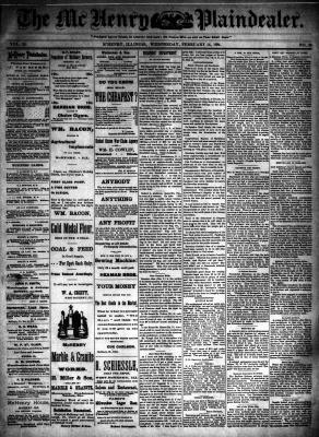 McHenry Plaindealer (McHenry, IL), 14 Feb 1894