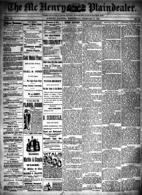 McHenry Plaindealer (McHenry, IL), 21 Feb 1894