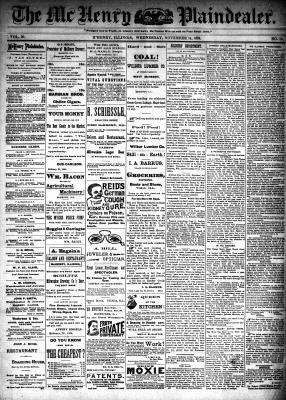 McHenry Plaindealer (McHenry, IL), 14 Nov 1894