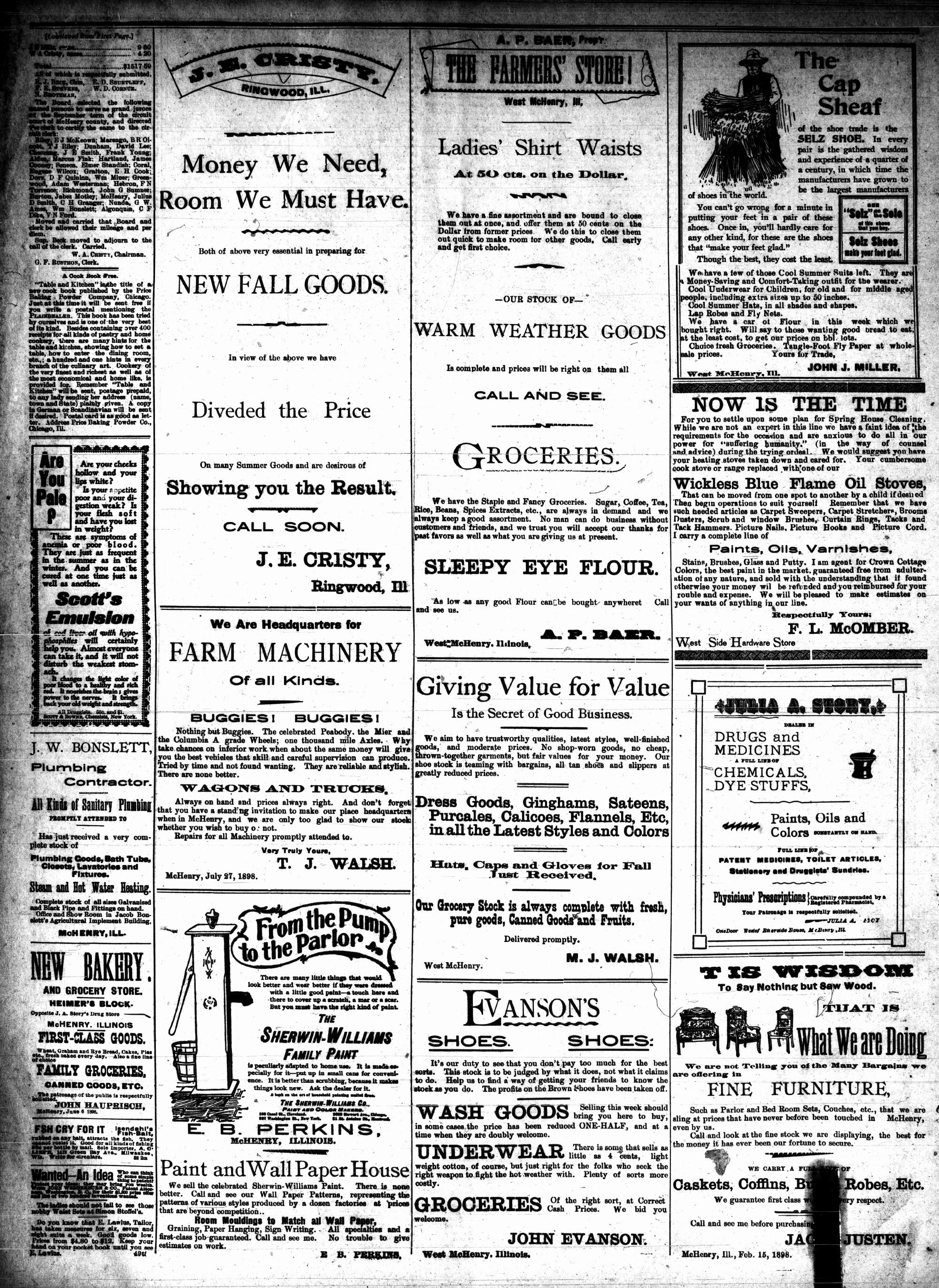 McHenry Plaindealer (McHenry, IL), 10 Aug 1898