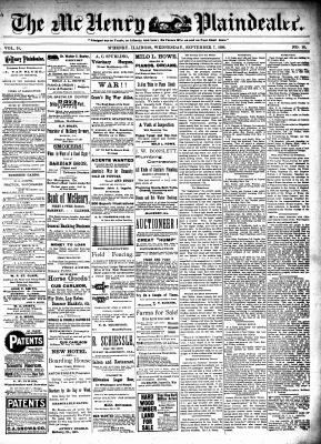 McHenry Plaindealer (McHenry, IL), 7 Sep 1898