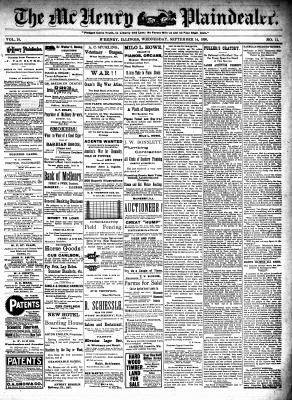 McHenry Plaindealer (McHenry, IL), 14 Sep 1898