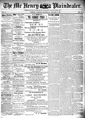 McHenry Plaindealer (McHenry, IL), 12 Oct 1898